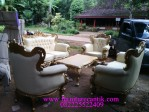 Set Sofa Ukir Emas Ruang Tamu Bali