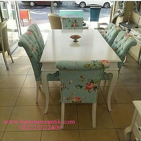 Set Meja Makan Rose Shap