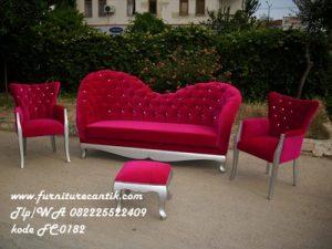 Set Sofa Ukir Cat Duco Silver