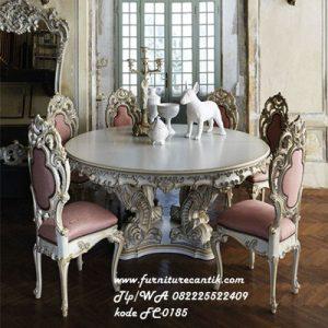 Set Meja Makan Ukiran Mewah