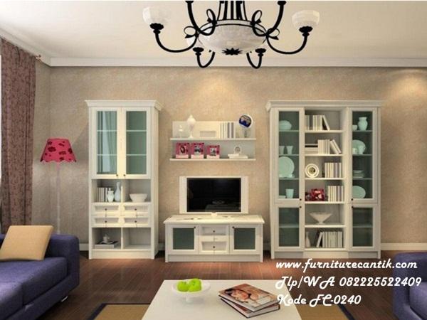 Set Meja Tv Ruang Keluarga