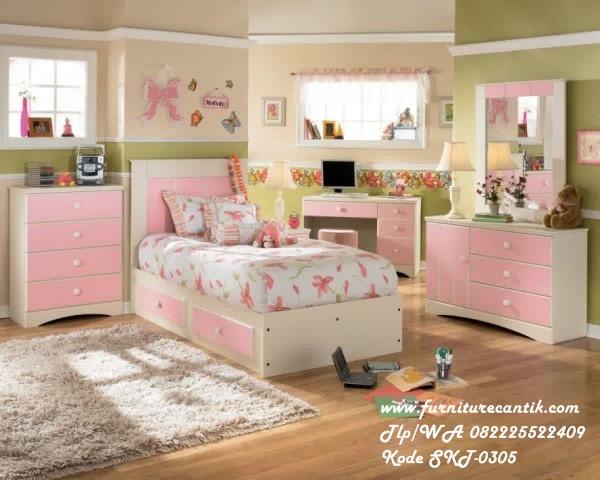 Kamar Set Anak Duco Pink Minimalis