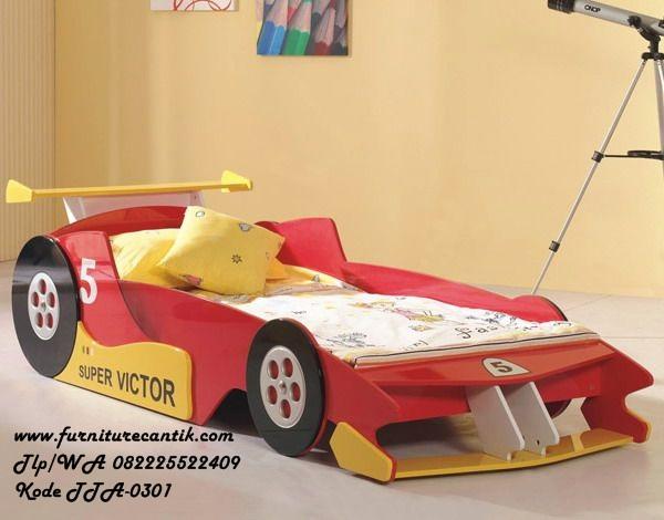 Tempat Tidur Anak Mobil F1
