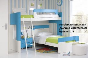 Tempat Tidur Tingkat Biru