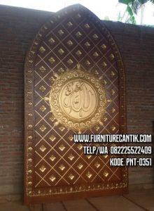 Pintu Masjid Nabawi Kayu Jati Bagus