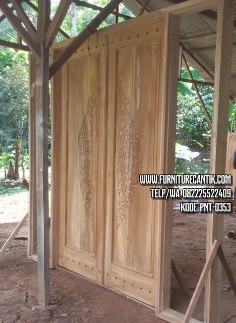 Pintu Rumah Jati Ukiran (2)