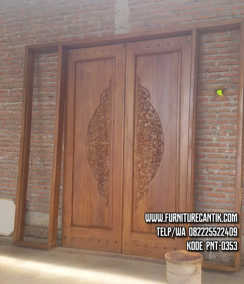 Pintu Rumah Jati Ukiran