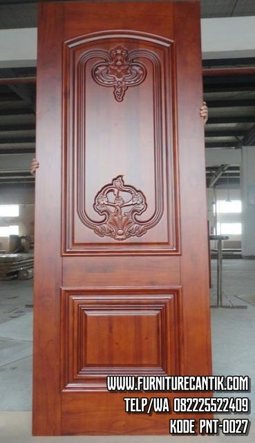 Daun Pintu Rumah Jati Klasik Mewah