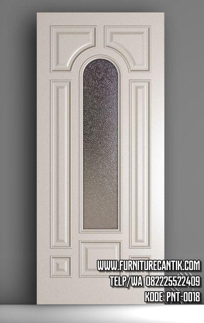 Daun Pintu Rumah Minimalis Cat Duco Putih Toko Furniture Cantik Jepara