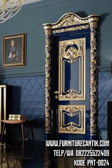 Pintu Kusen Rumah Mewah Hitam Gold