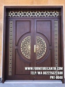 Pintu Masjid Jati Minimalis Mewah