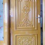 Pintu Rumah Jati Ukiran Cat Madoras