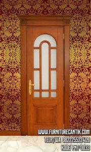 Pintu Rumah Mewah Minimalis Kayu Jati Warna