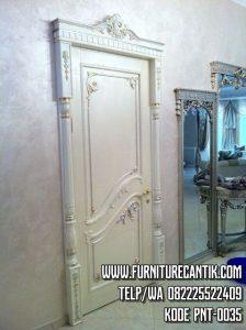 Pintu Rumah Mewah Ukiran Cat Duco White