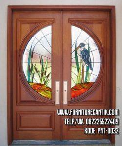 Pintu Utama Rumah Kayu Jati Solid