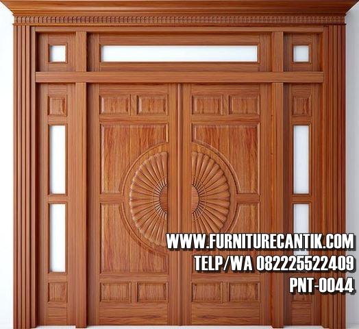 Pintu Utama Rumah Mewah Jati A