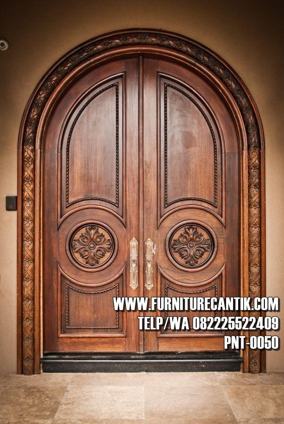 Pintu Utama Rumah Mewah Jati Klasik