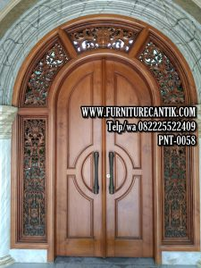 Pintu Masjid Jati Kusen Ukiran