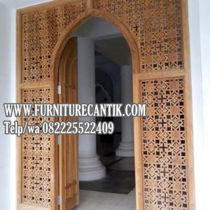 Jual Kusen Pintu Masjid Kayu Jati