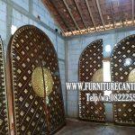 Pintu Masjid Jati Minimalis Ukir Mewah