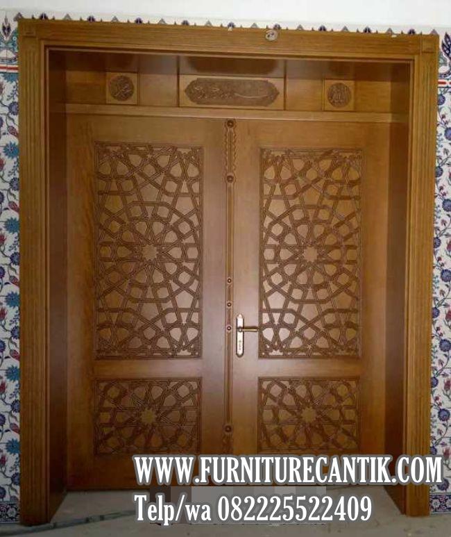 Pintu Masjid Kayu Jati Bagus TPK A