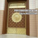Jual Pintu Kusen Masjid Jati Model Nabawi Klasik