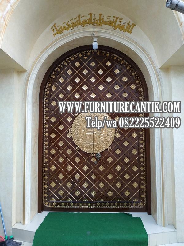 Jual Pintu Masjid Jati Minimalis Mewah Ukiran Arab