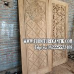 Pintu Masjid Kayu Jati TPK Kaligrafi Allah