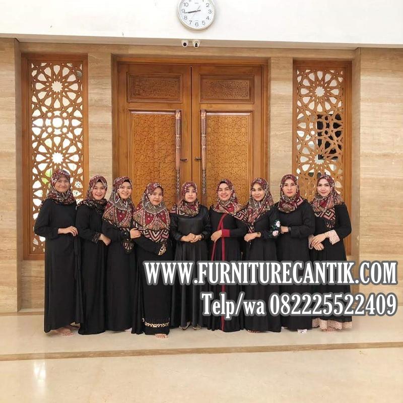 Pintu Masjid Kayu Jati Ukiran Furniture Cantik Jepara