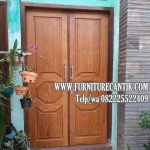 Pintu Utama Rumah Mewah Jati Minimalis Buat Perumahan  Meikarta