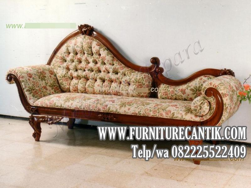 Sofa Santai Jati Ukiran Mawar Klasik Jepara