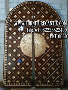 Jual Pintu Masjid Kayu Jati Ukir Terbaru