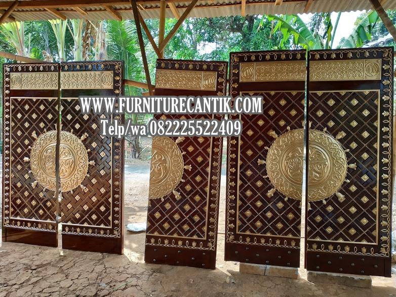 Jual Replika Pintu Masjid Nabawi Kayu Jati