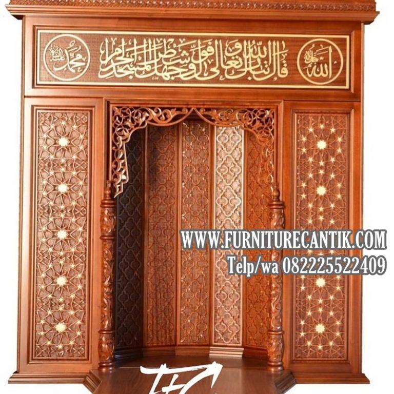 Pintu Kusen Masjid Kayu Jati Palangkaraya