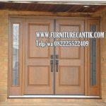 Pintu Utama Rumah Mewah Jati Model Minimalis