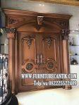 Pintu Utama Rumah Mewah Jati Ukiran Klasik Antik