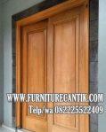 Pintu Utama Rumah Mewah Minimalis Jati Tua