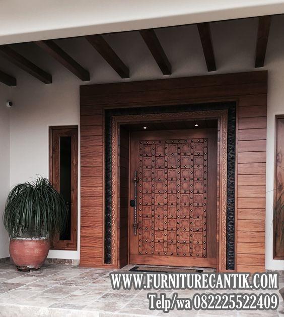 Pintu Utama Rumah Mewah Minimalis Jati | Toko Furniture ...
