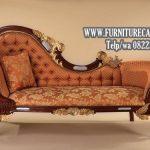 Sofa cantik Jati Mewah Kain Oscar