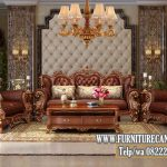Kursi Mewah Ruang Tamu Jati Solid
