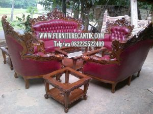 Kursi Tamu Mewah Sofa Jati Solid Ukiran