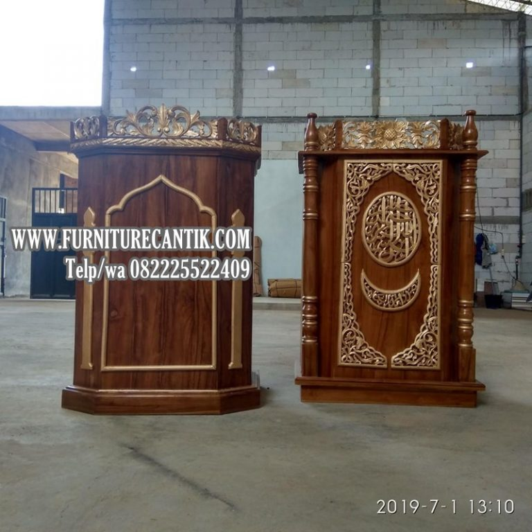 Mimbar Masjid Jati Model Terbaru Dari Jepara