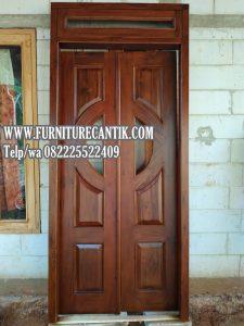 Pintu Kamar Rumah Desain Minimalis Kayu Jati