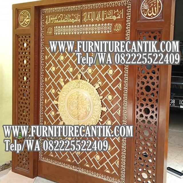 Pintu Kusen Masjid Kayu Jati Replika Nabawi