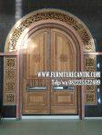 Pintu Masjid Kayu Jati Model Lengkung