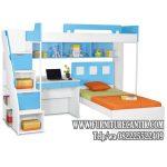 Tempat Tidur Anak Dan Meja Belajar Jati