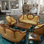 Kursi Tamu Sofa Jati Model Ukiran Sederhana
