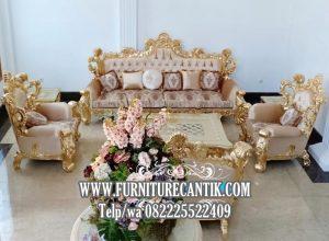 Set Kursi Tamu Sofa Mewah Ukiran Terbaru