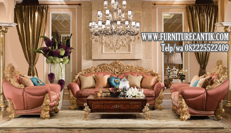 Sofa Tamu Ukiran Mewah Klasik Jati