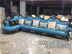 Sofa Tamu Ukiran Mewah Model Sudut